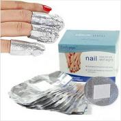 Foreverstore 50pcs Nail Tinfoil Wraps Nail Art Soak Off Gel Nail Polish Remover Tool