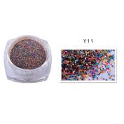 Iuhan Pro 2g Dazzling Mixed Colours Nail Sand Powder Glitter Glitter Manicure Nail Decoration Beauty