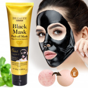 Essy Beauty Charcoal Blackhead Remover and Moisturising Peel-off Black Mask-Deep Cleansing and Moisturising
