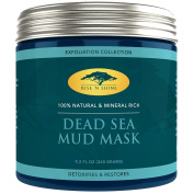 (270ml) Dead Sea Mud Mask for Face and Body - 100% Natural Spa Quality - Perfect Pore Minimizer, Deep Skin Cleanser, Reduces Acne, Blackheads and Oiliness for a Tighter Skin and Healthier Complexion