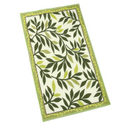 Two-tone Leaf Accent Rug Green 60cm X 150cm , Green, 60cm X 150cm