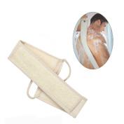 Exfoliating Loofah Back Scrubber Long Shower Sponge with Soap Pocket ,Body Sponge Scratcher Back Massage Shower Tool for Men and Women