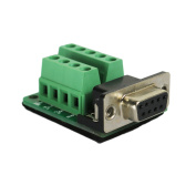 Twinkle Bay DB9 Connector to Wiring Terminal RS232 Serial Port Breakout Board Solder-free