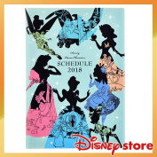 Notebook, schedule book 2018 B6 Disney character FASHION-ONE LOVE