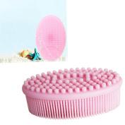 Baby shampoo brush silicone brush baby massage brush bath brush children adult bath + silicone face clean brush.JRong