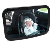 Rear View, Back Seat, in Car BABY SAFETY MIRROR. Shatterproof, Scratch Resistant, Ready to Use, Improved Fixing Method, Fully Adjustable, Great Visibility and Stability, See your Child and be Seen
