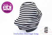 Baby Car Seat Cover Canopy and Nursing Cover Breastfeeding Shopping Cart Cover Gift