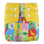 Baby Cloth Nappies,Fullfun Adjustable Washable Reusable Cotton Diappers for Baby Girls and Boys 0-3 Years