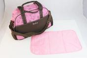 Multifunctional Stroller Waterproof Baby Nappy Nappy Changing Bag Mummy Handbag Tote Shoulder Bag Pink