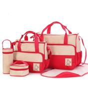 Creazy 5 PCS Baby Changing Nappy Nappy Bag Mummy Mother Handbag Multifunctional Set