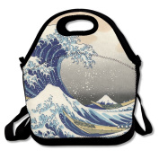 Wave Off Kanagawa Extra Large Gourmet Lunch Tote Food Bag