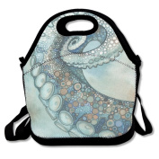 Octopus Tentacle Extra Large Gourmet Lunch Tote Food Handbag