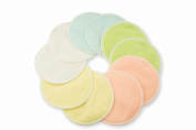 Reusable Washable Cotton Nursing Pads - 10 Pad Pack & FREE Laundry Bag - Keep Your Shirts Dry & Clean With Our Leak-Proof Breastfeeding Maternity Pads, Skin-Safe & Hypoallergenic Bamboo Cotton