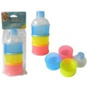 Family Maid 1996229 Baby Powdered Milk Stackable Containers - Multi Colour