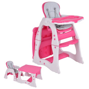 Costzon 3 in 1 Baby High Chair Desk Convertible Play Table Conversion Seat Booster