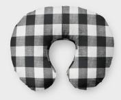 AllTot Nursing Pillow Cover in Black Buffalo Plaid
