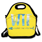 Sea Wheres The Fish Multifunctional Lunch Tote Bag Carry Box