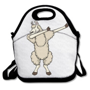 Funny Dab Illama Multifunctional Lunch Tote Bag Carry Box