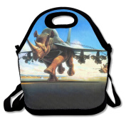 Fantasy Rhino Planes Abstract Multifunctional Lunch Tote Bag Carry Box