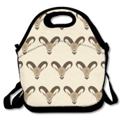 Cartoon Goat Head Pattern Multifunctional Lunch Tote Bag Carry Box