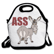 Funny Cartoon Donkey Ass Multifunctional Lunch Tote Bag Carry Box