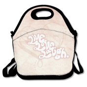 Live Laugh Love Heart Multifunctional Lunch Tote Bag Carry Box