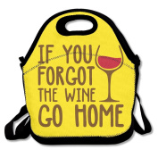 If You Forgot Red Wine Go Home Multifunctional Lunch Tote Bag Carry Box