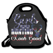 Girls Make Hunting Look Good Multifunctional Lunch Tote Bag Carry Box