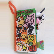 Ducklingup Kids Animal Tails Cloth Books --Farm Tails