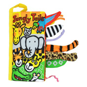 Ducklingup Kids Animal Tails Cloth Books --Jungly Tail