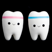 Doober Cute Tooth Jumbo Squishy Slow Rising Squeeze Stress Hand Soft Toy Phone Pendant