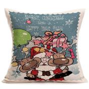 Christmas Pillow Case, Luca Sofa Bed Home Decoration Festival Pillow Case Cushion Cover
