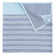 Elegant Baby Family Baby Soft Muslin Blanket, One Size, Blue Stripe
