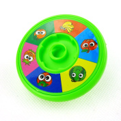 Flashing Hand Spinning Toy Plastic Peg-top Gyro Toy with Lights Gift for Kids Random Colour