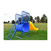 Tree House Playground Structure with Ladder and Slide
