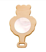 Wooden DIY Snow Mud Mirror Children Hand-made Model Toys,bear