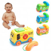 Putars Cute Baby Toys Music Cartoon Bus Phone Educational Developmental Kids Toy Gift