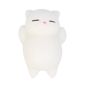 Cheap Squishies Toy, Ankola Kawaii Soft Mochi Squishy Stretchy Toys Cute Cat Seal Healing Squeeze Toy Stress Reliever Decor for Kids Adults