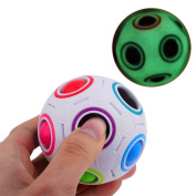 Pulison(TM) New Luminous Rainbow Magic Ball Plastic Cube Twist Puzzle Toys For Children's Educational Toy Teenagers Adult Stress Reliever