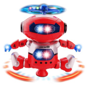 Naovio Electronic Walking Dancing Robot Toys With Music Lightening For Kids Boys Girls Toddlers,360°Body Spinning Have Fun Gifts