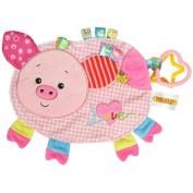 NUOLUX Cartoon Plush Toys Sleeping Toys Comforter Toys Can Bite for Newborn Baby
