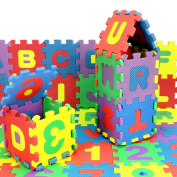 Putars Cute 36PCS Baby Child Number Alphabet Puzzle Foam Maths Educational Toy Gift
