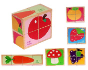 Wooden Educational Toys Wooden Cube Block Puzzle for Age . Old Kids, 6 Puzzles in One