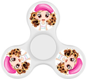 Novelty Toy Spinning Tops Cartoon Girl Theme Toys Rotating Gyroscopic Fingertips Gyroscope Decompression Toy Relieve Anxiety And Stress White