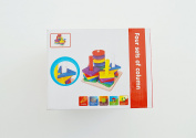 Genius Art Early Educational Toys Wood Numbers Blocks Shape Sorter Knob Puzzle Learning