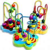 Baby Toy Makalon Hot Children Kids Baby Colourful Wooden Mini Around Beads Educational Game Toy