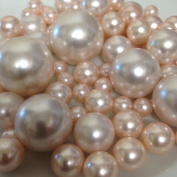Vase Filler Pearls For Floating Pearl Centrepieces, 80 Blush Pink Pearls Jumbo & Mix Size No Hole Pearls,
