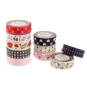 ULTNICE Lace Tape Washi Fabric Tape Stickers for Scrapbooking DIY Craft Office Supplies 10pcs