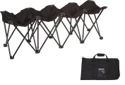 Trademark Innovations 4-Person Seater Folding Sports Sideline Bench
