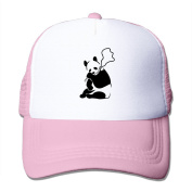 Banksy Panda Printed Hat Summer Mesh Cap With Adjustable Snapback Strap With 5 Colours